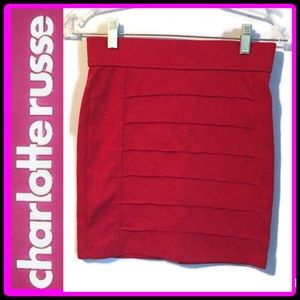 Charlotte Russe Red body con skirt